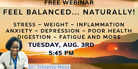 FREE WEBINAR: Natural Solutions for Hormones + Fatigue on Aug 3 at 5:45 PM tickets