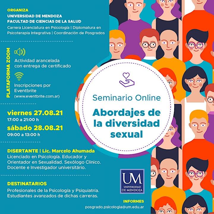 Imagen de Seminario online -  Abordajes de la diversidad sexual