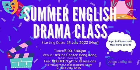 Summer English Drama Class tickets