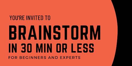 Facilitate brainstorming in 30 min - Canadian facilitators tickets