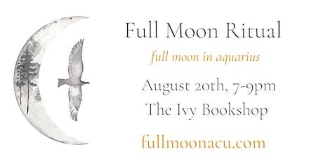 Full Moon Ritual (Aquarius) tickets