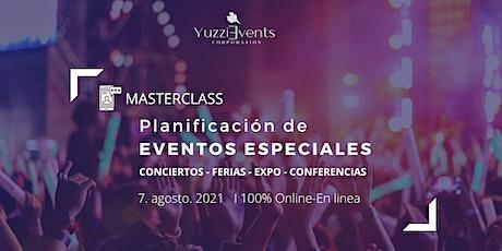 Planificación de EVENTOS ESPECIALES boletos