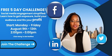 FREE 5 DAY CHALLENGE! Social media engagement simplified: tickets