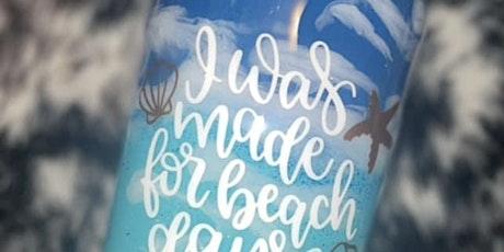 Beach Epoxy Tumbler tickets