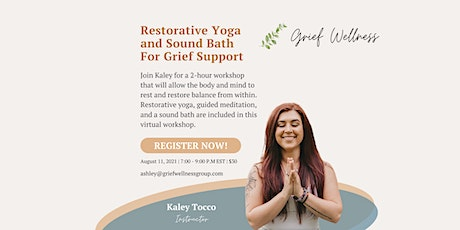 Restorative Yoga and Sound Bath with Kaley Tocco tickets