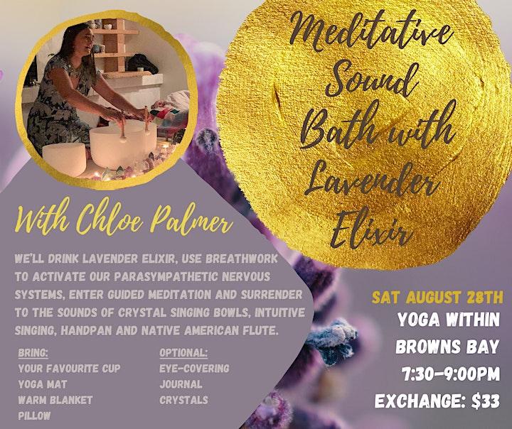 Meditative Sound Bath Infused With Lavender Elixir By Chloe Palmer image