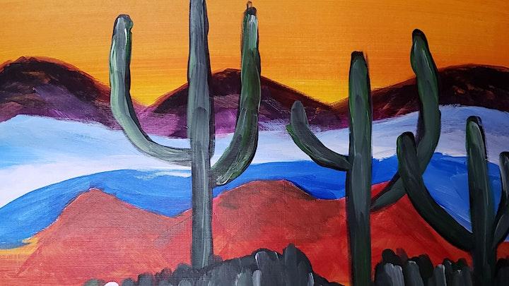 Virtual Painting Class - Cactus Garden image