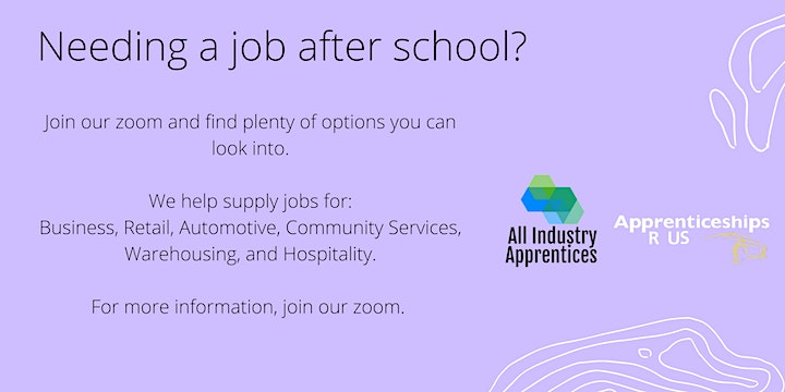 Apprenticeships and Traineeships Information Session image