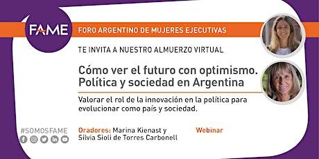 Cómo ver el futuro con optimismo. Política y sociedad en Argentina entradas
