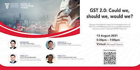 GST 2.0: Could we, should we, would we? tickets