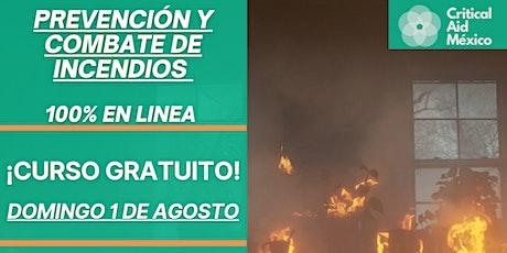 Prevención y Combate de Incendios - CURSO GRATIS entradas