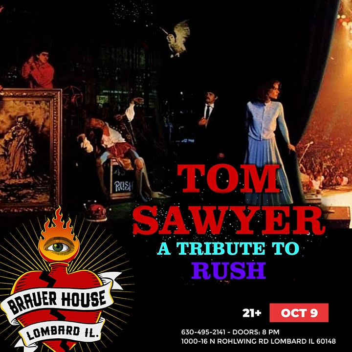 TOM SAWYER (RUSH TRIBUTE) at BrauerHouse Lombard image
