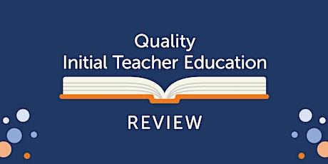Quality Initial Teacher Education - Workshop tickets
