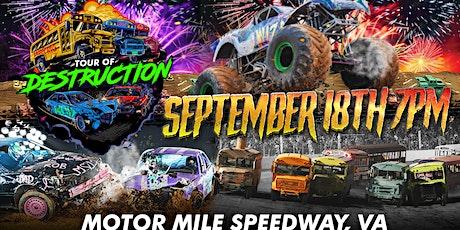 TOUR OF DESTRUCTION - MOTOR MILE SPEEDWAY tickets