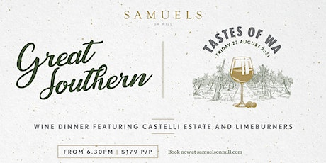Great Southern Wine Dinner with Castelli Estate and Limeburners tickets
