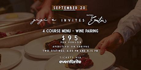 Gigi's invites Trattoria Emilia - Italian food at its best tickets