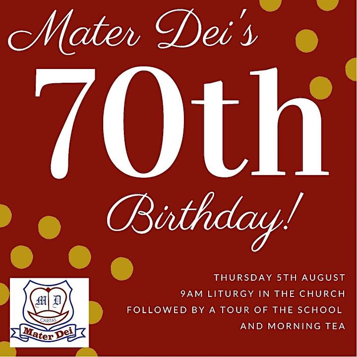 Mater Dei's 70th Birthday Liturgy image