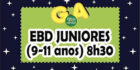 EBD G.A - JUNIORES (9 A 11 ANOS) - 01/08/2021 - 8:30 ingressos