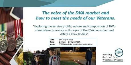 The Voice of the DVA market and how to meet the needs of our Veterans tickets