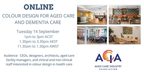 Colour Design for Aged Care and Dementia Care tickets