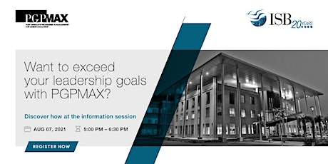 ISB -PGPMAX Info session tickets