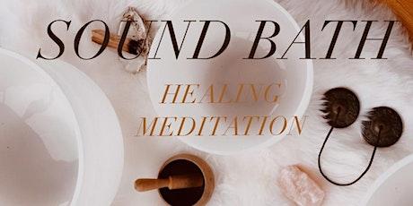 Sound bath healing meditation tickets