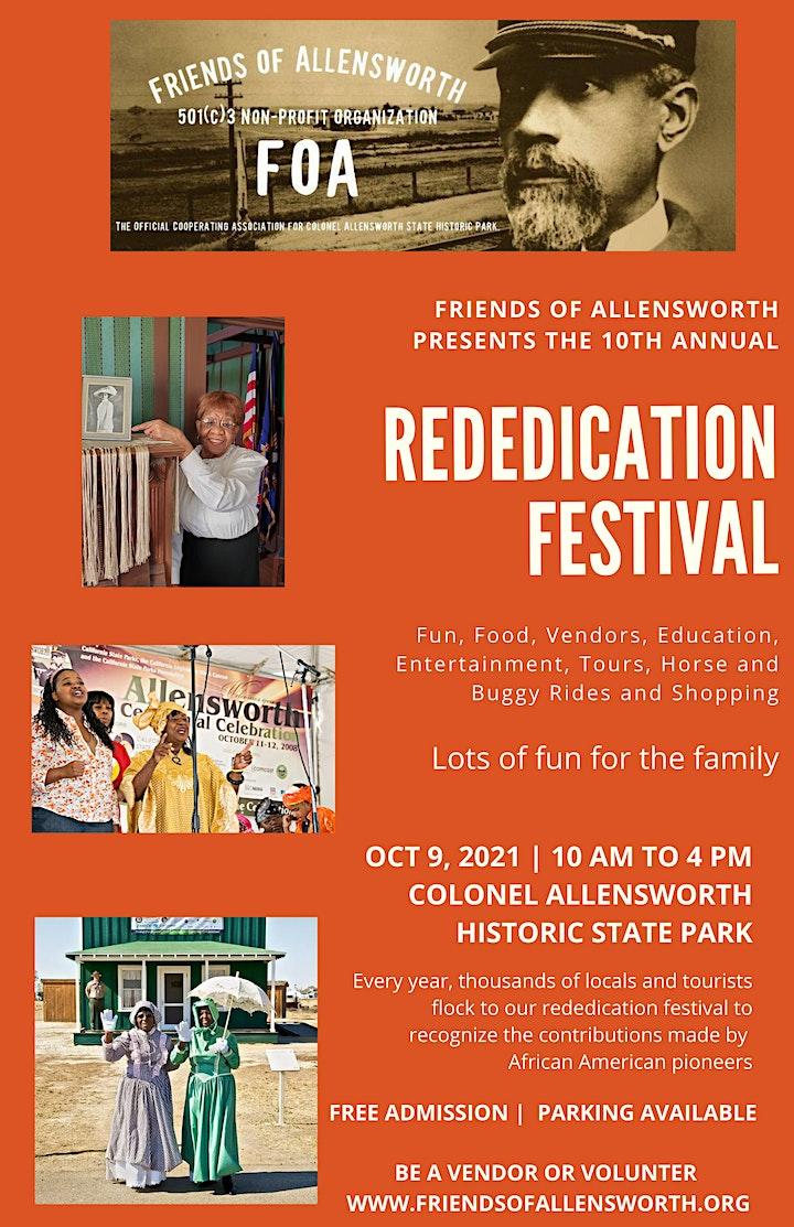 Friends of Allensworth Rededication Festival image