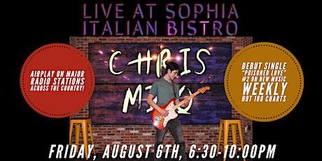 Chris Milo live at Sophia Italian Bistro tickets