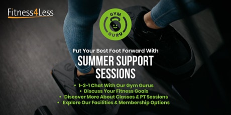 Summer Support Session at Fitness4Less Colchester tickets