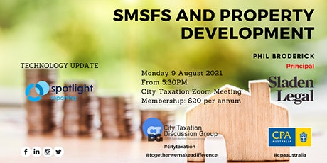 CTDG August 2021 1st Event - SMSFs and Property Development tickets