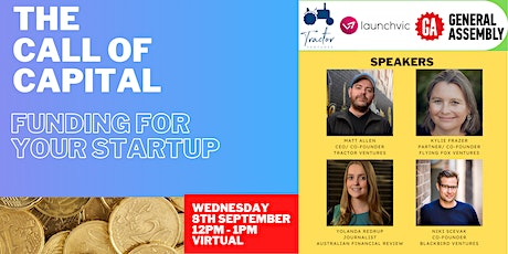 The Call Of Capital: How To Raise Funding For Your Startup tickets