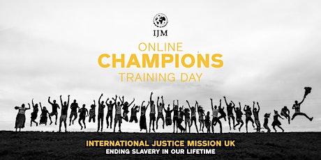 IJM Champions Training Day:ONLINE tickets