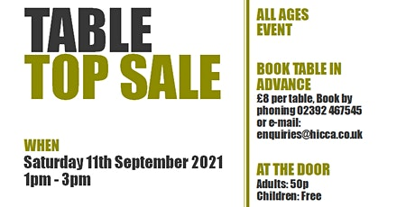Table Top Sale and Prize Every Time Tombola tickets