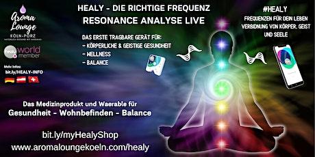 Healy - Resonance Analyse LIVE ONLINE - natürliche Frequenzen zur Gesundung Tickets