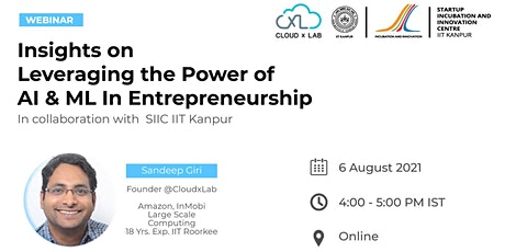 Webinar on Insights on Leveraging the power of AI & ML In Entrepreneurship biglietti