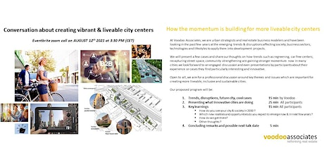 Conversation about creating vibrant & liveable cities tickets