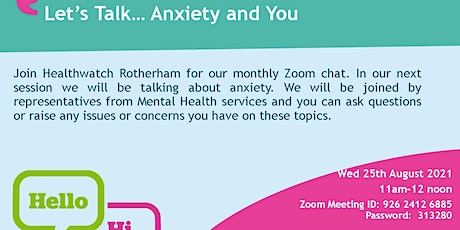 Let's Talk...Anxiety and You tickets