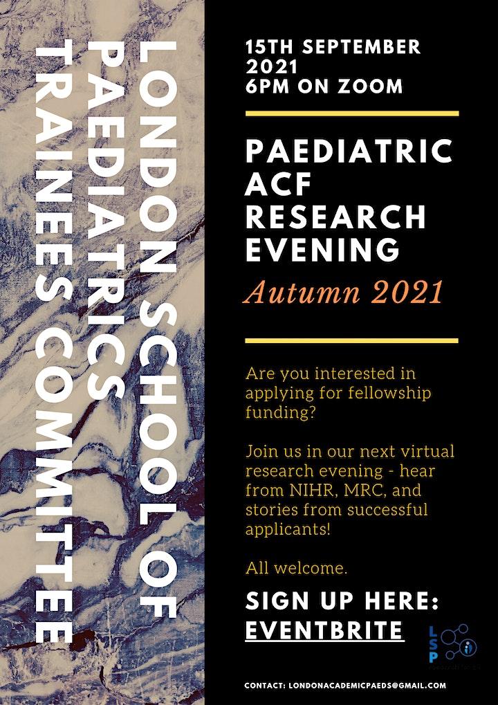 London School of Paediatrics Trainees Committee: Research Evening image