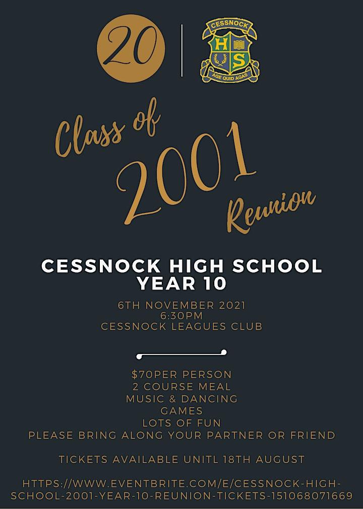 Cessnock High School - 2001 Year 10 Reunion image