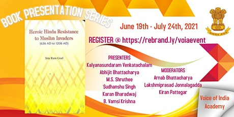 """Book Series - """"Heroic Hindu Resistance to Muslim Invaders"""" SRG  (Chapter 6) tickets"""