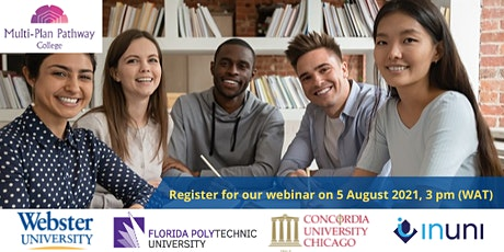 Register our webinar and learn more about our InUni US Partner Universities tickets