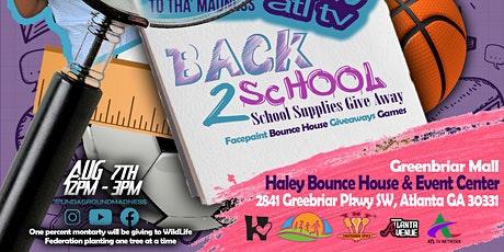 Undaground Madness 8th Annual Back 2 School Giveaway tickets