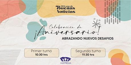 Celebración Aniversario - 10:30 Hs entradas