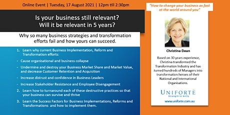 Is your business still relevant? Will it be relevant in 5 years? tickets