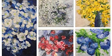 """Exposition """"Les années florales"""" par Jeanne XU artiste peintre billets"""