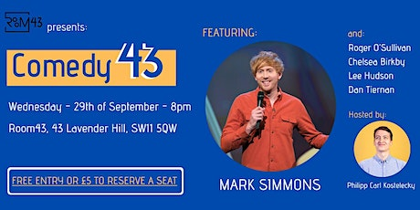 Comedy 43 - 29th of September tickets