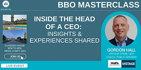 BBO PA Network | MASTERCLASS | Inside the Mind of a CEO | Cliveden House tickets