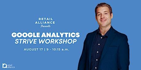 STRIVE Workshop: Google Analytics tickets
