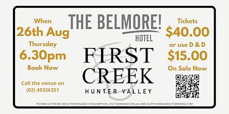First Creek Wine Dinner @ The Belmore Hotel tickets