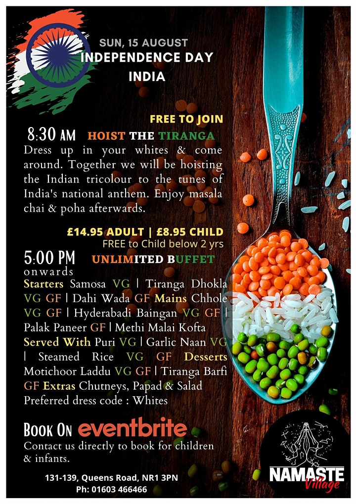 Independence Day India - Flavourful freedom with unlimited buffet! image